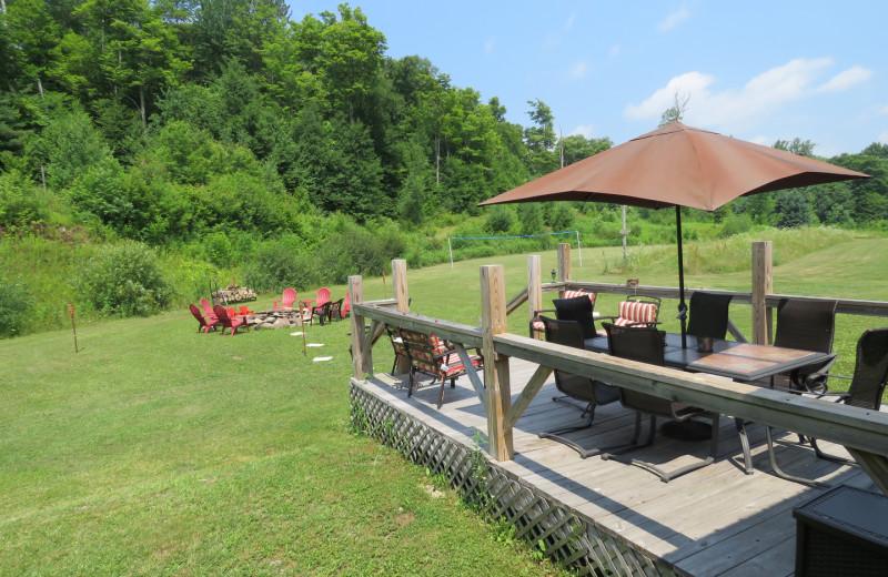 Patio at Tug Hill Resort.