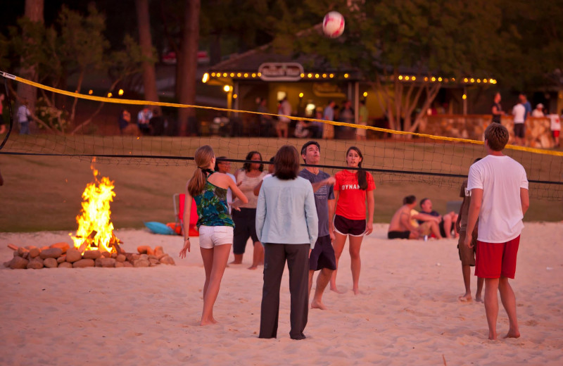 Volleyball court at Callaway Gardens.