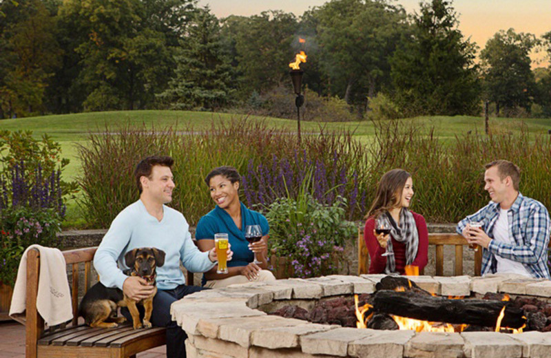 Outdoor bonfire at Eaglewood Resort & Spa.