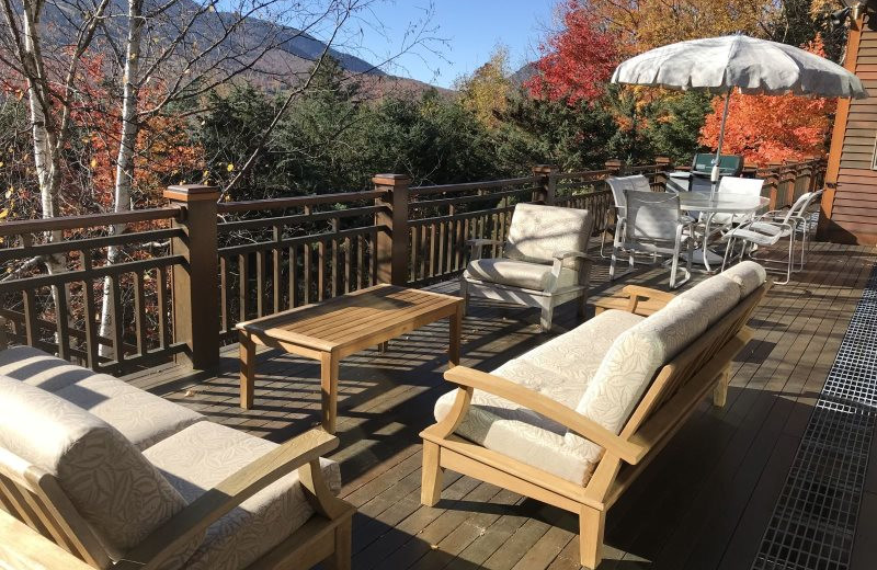 Rental deck at All Mountain Rentals.