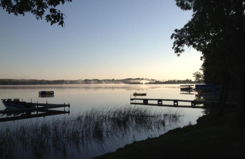 Beautiful lake view at Sandy Pines Resort.
