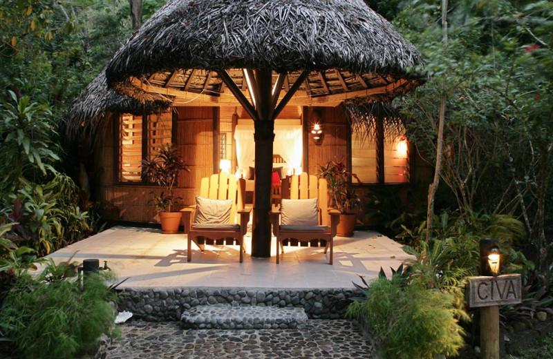Bure exterior at Matangi Island Resort.