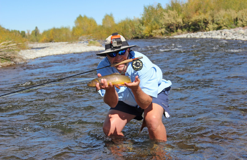 Fishing at Wood River Ranch.