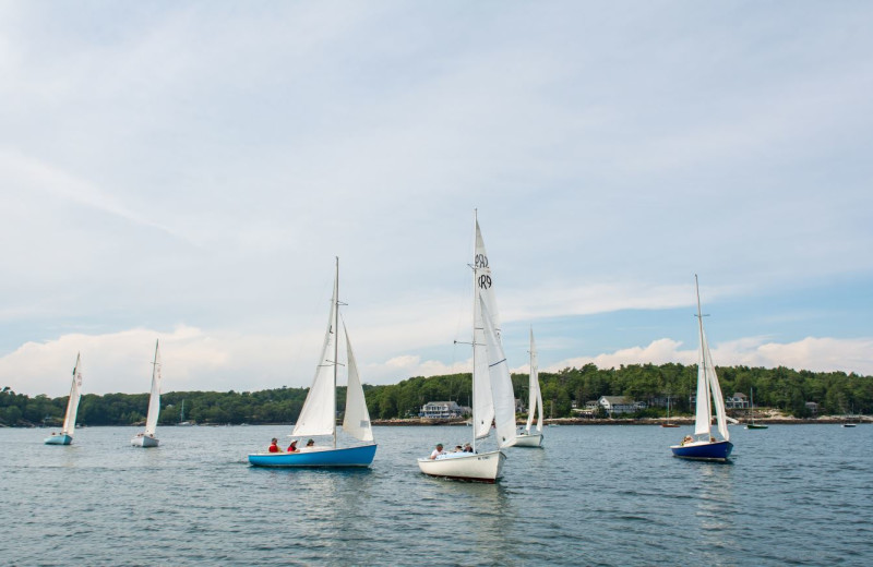 Sailing at Linekin Bay Resort.