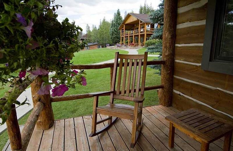 Cabin deck at C Lazy U Ranch.