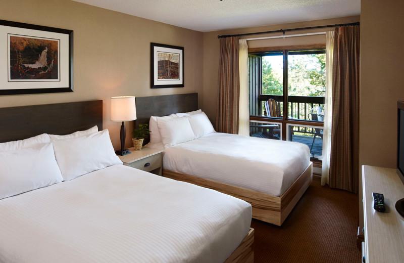 Guest room at Deerstalker Resort.