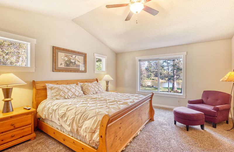 Rental bedroom at Bloomer Estates Vacation Rentals.