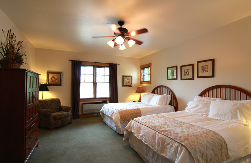 Guest room at Nantahala Village.
