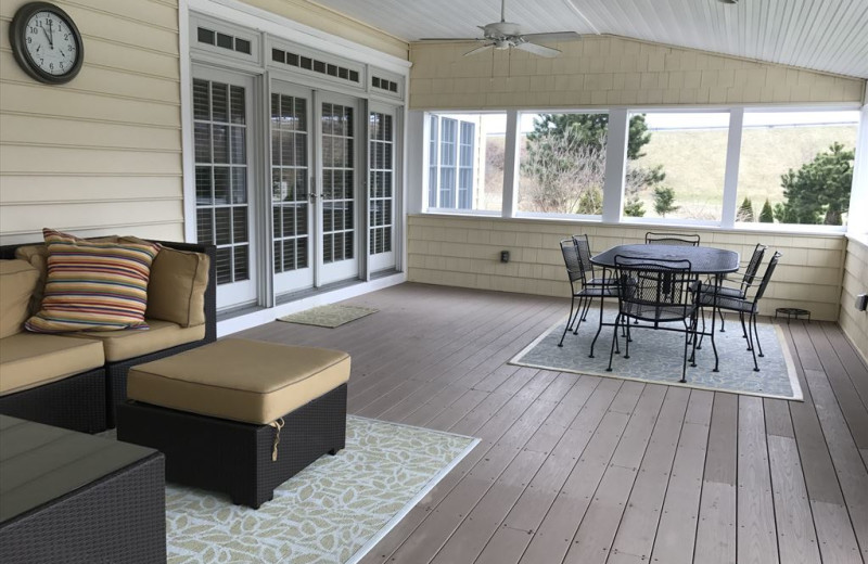 Rental porch at Jersey Cape Realty