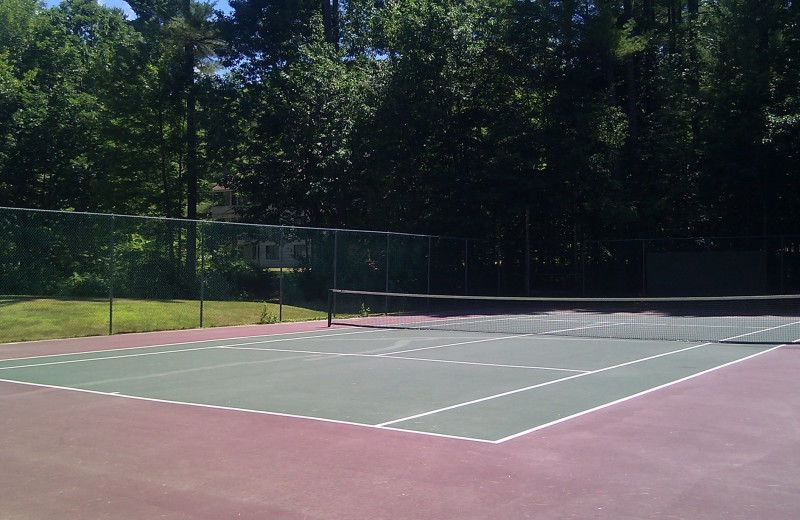 Tennis court at The Seasons Resort.
