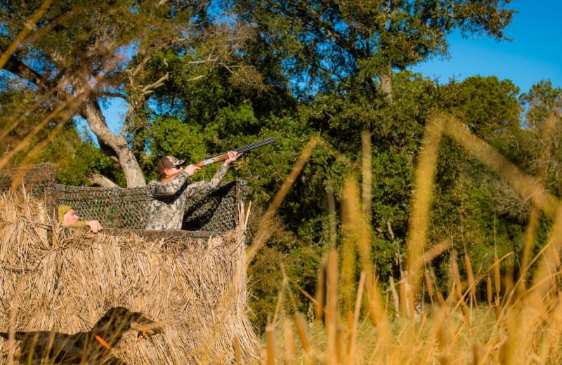 Hunting at Joshua Creek Ranch.