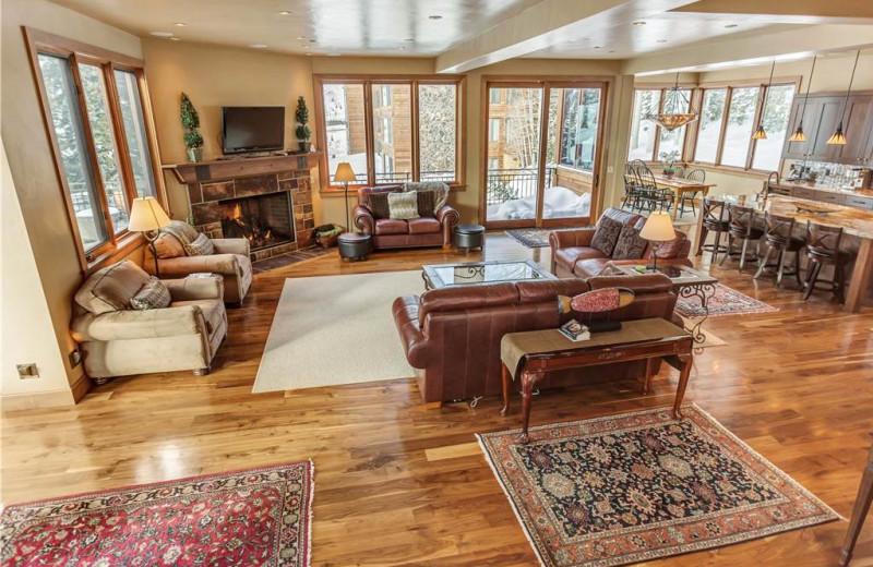 Rental great room at Canyon Services Vacation Rentals.