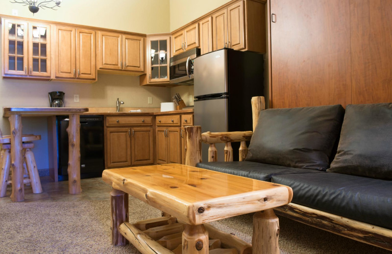 Guest kitchen at The Lodge at Giants Ridge.