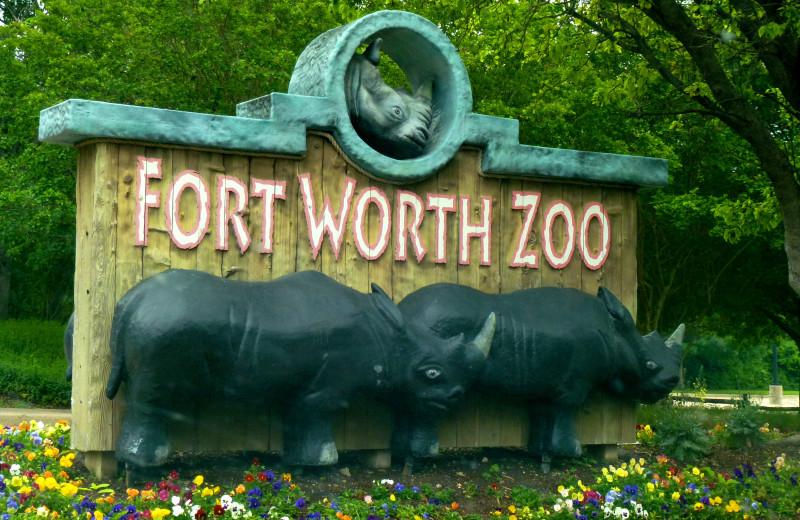 Fort Worth Zoo near Ambassador Hotel & Suites.