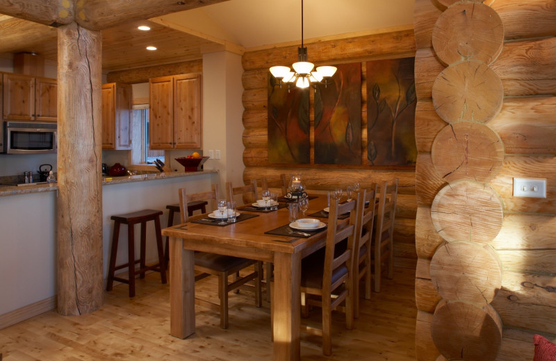 Guest dining room at Temperance Landing on Lake Superior.