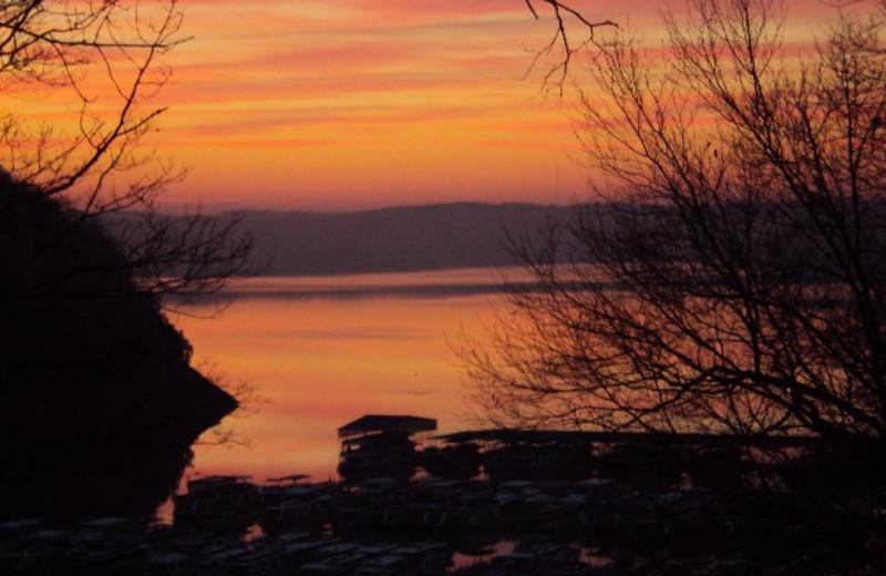 Sunrise at Jamestown Resort and Marina.