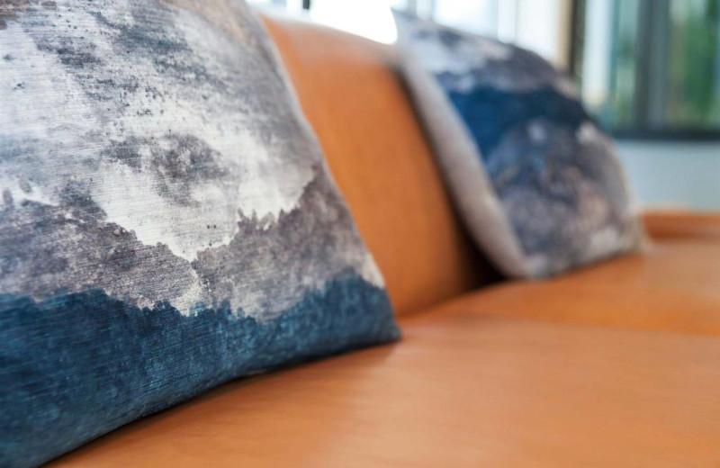 Pillows at Surfbreak Oceanfront Hotel.