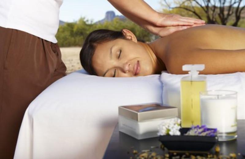 Spa massage at Rancho De Los Caballeros.