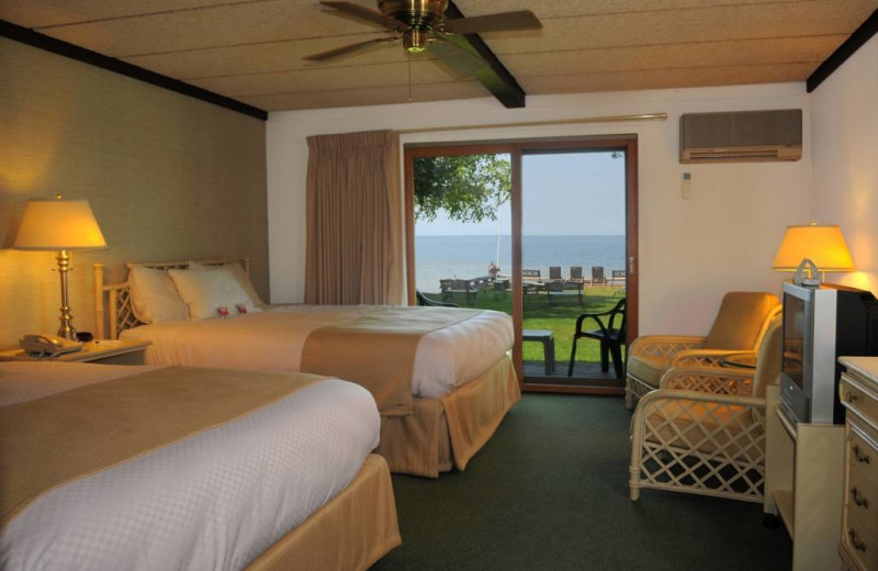 Guest room at The Shallows Resort.