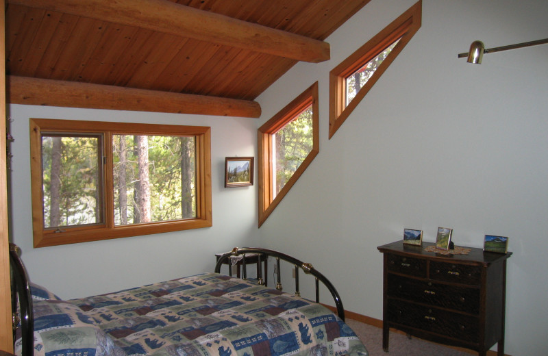 Guest bedrooms at The Glacier Chalet.