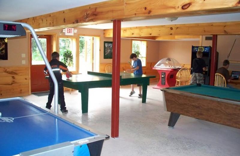 Game room at Sandy Lane Resort.