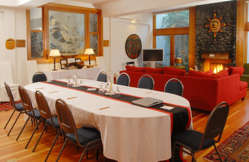 Meeting room at Sooke Harbour House.