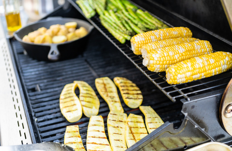 Grilled vegetables at Hardscabble Ranch.