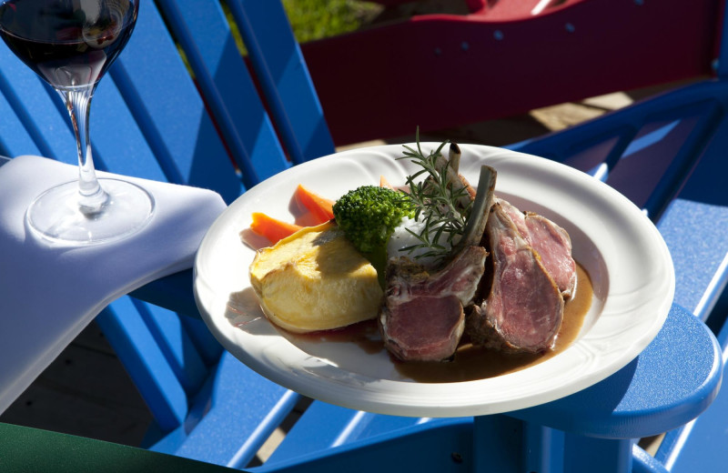 Dining at Severn Lodge.