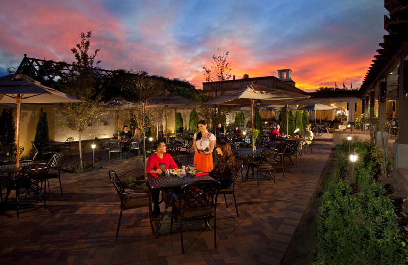 Patio dining at Hotel Albuquerque at Old Town.