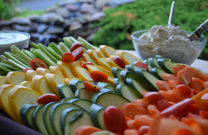 Vegetable tray at Emerson Resort & Spa.