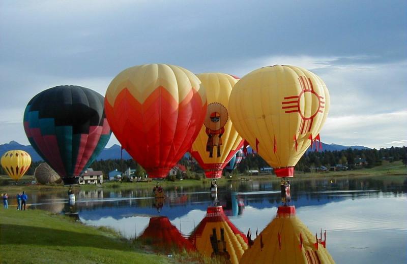 Hot air balloons at Pagosa Springs Accommodations.