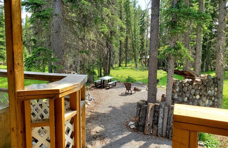 Cottage deck view at Expanse Cottages.