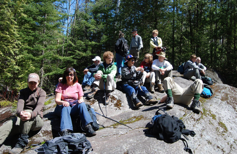 Group hike near Trails End Inn.