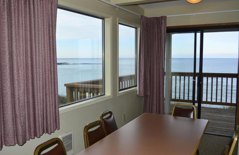 Beach house dining room at Surfrider Resort.