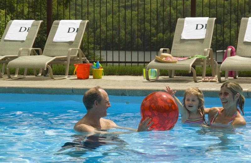 Outdoor pool at Deerstalker Resort.