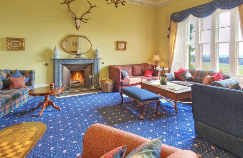 Lounge at Chirnside Hall Hotel.