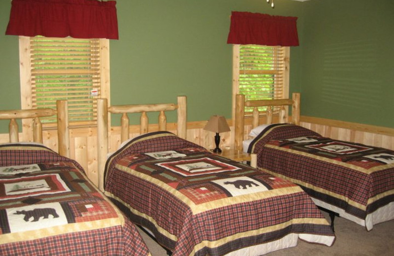 Guest room at Finn'n Feather Resort.