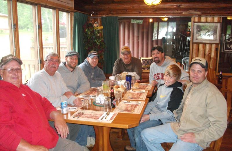 Dining at Pipestone Point Resort.