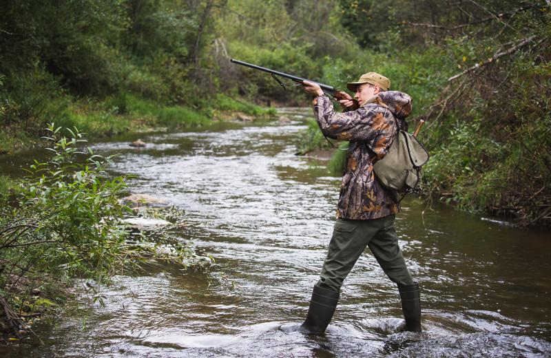 Hunting at Tug Hill Resort.