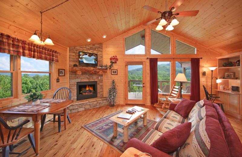 Rental living room at Elk Springs Resort.