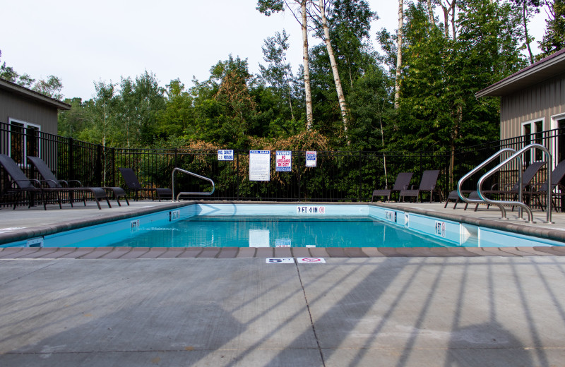 Outdoor pool at Holly's Resort.