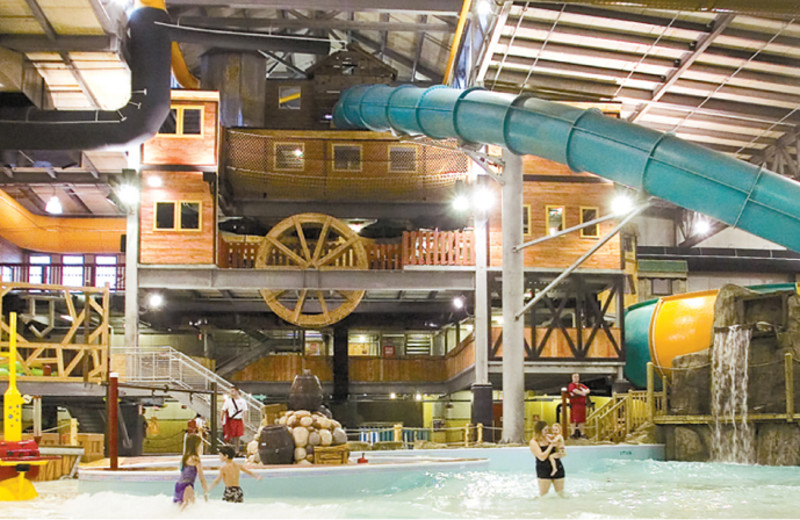 Indoor water park at Double JJ Resort.