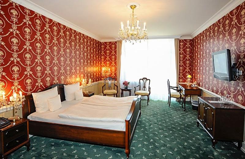 Guest room at Bad-Hotel Zum Hirsch.