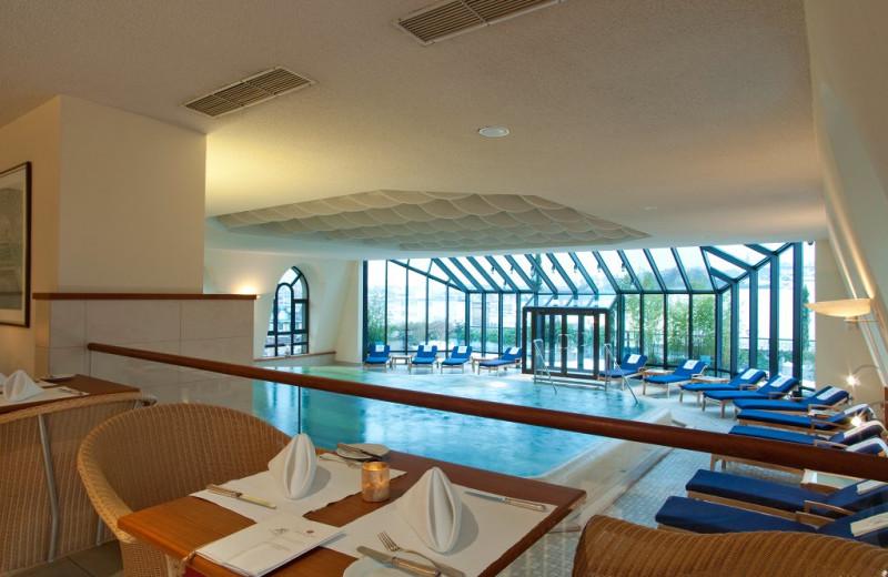 Indoor pool at Hotel Nassauer Hof.