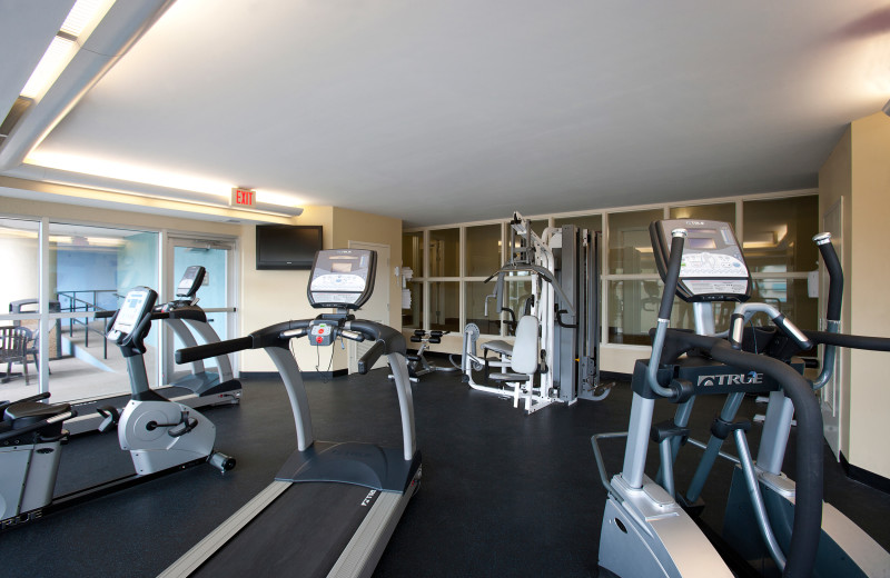 Fitness room at Bay View Resort.