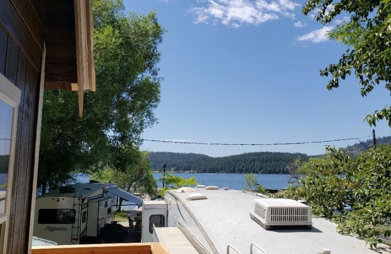 Cabin lake view at Silver Beach Resort.