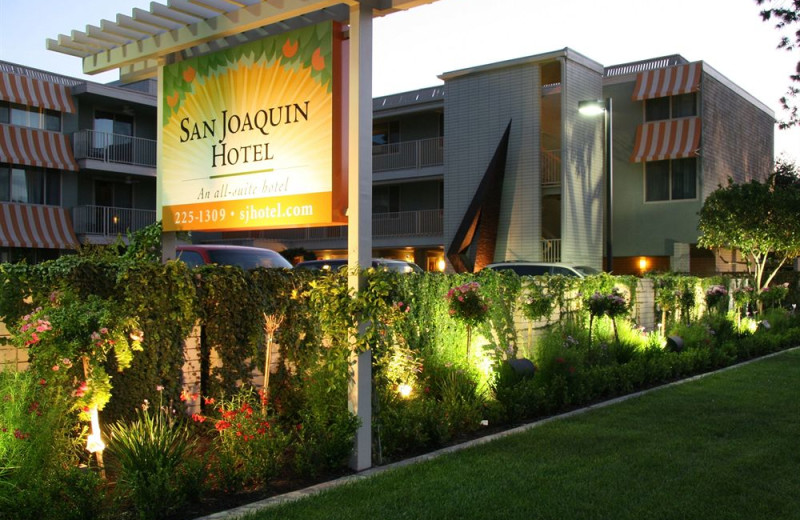 Exterior view of The San Joaquin Hotel.