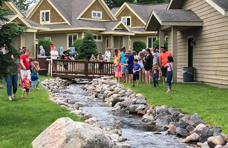 Duck racing at Kavanaugh's Sylvan Lake Resort.