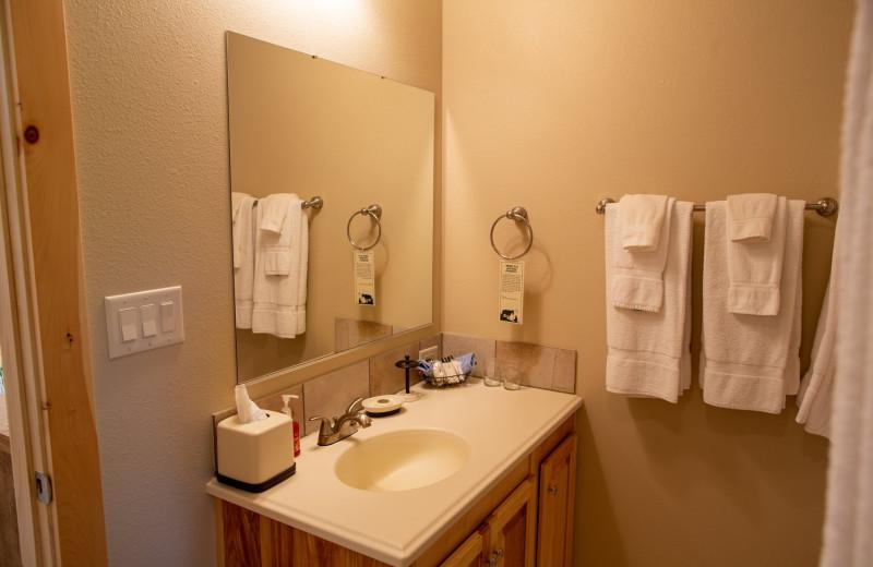 Cabin bathroom at Colorado Trails Ranch.