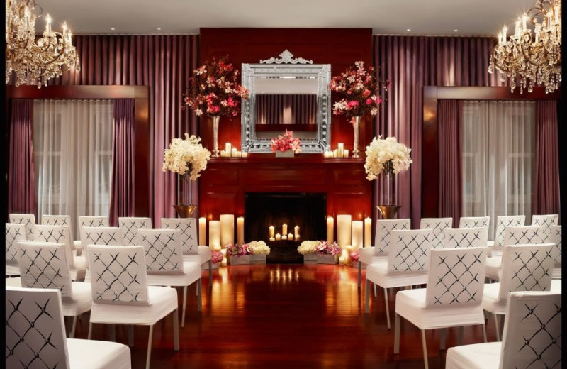 Wedding ceremony at Clift Hotel.